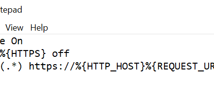 How To: Redirecting HTTP to HTTPS with .htaccess