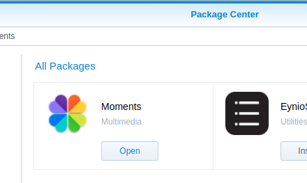 How To: Setting up the new Synology NAS Moments Package