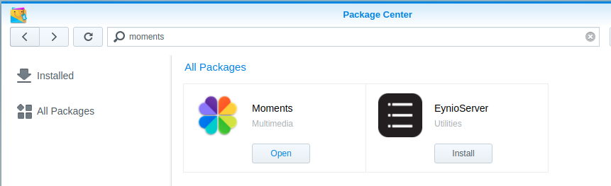 How To: Setting up the new Synology NAS Moments Package - Jarrod's Tech