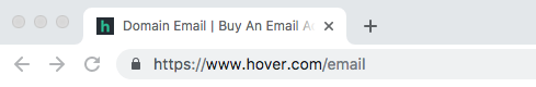 Recommendation: Cheap Email Hosting with Hover